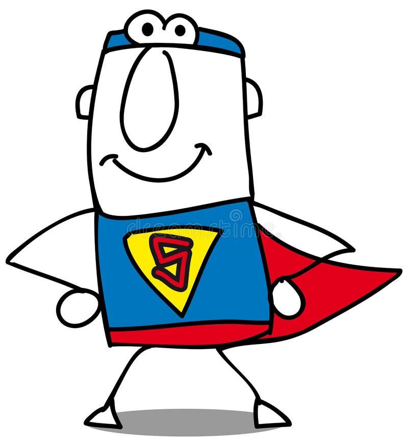 O homem de negócios super está voltando ilustração royalty free