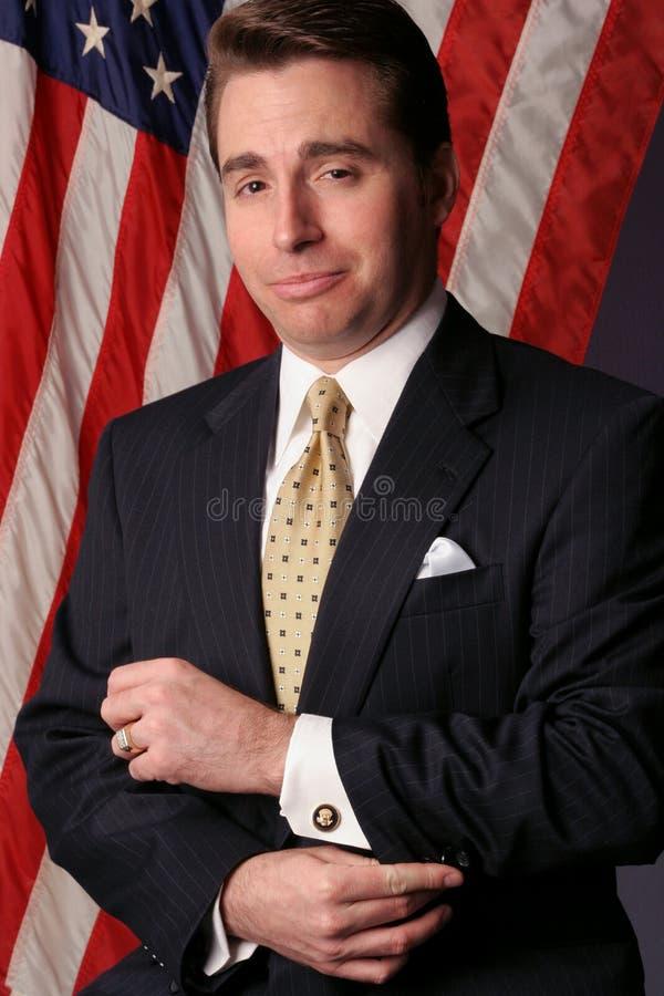 O homem de negócios transforma-se um candidato fotografia de stock