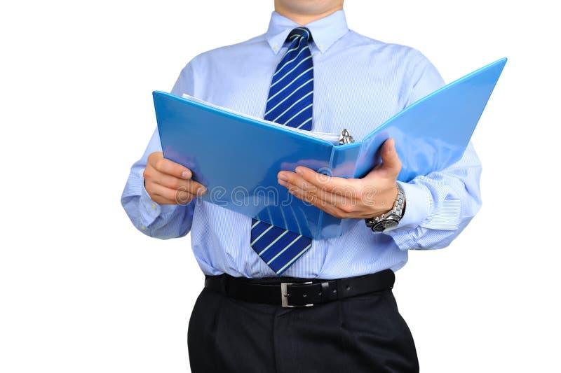 O homem de negócios Well-dressed está verific a imagens de stock
