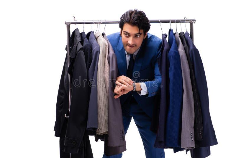 O homem de neg?cios consider?vel novo no conceito da roupa imagens de stock royalty free
