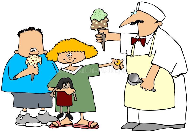 O homem do gelado ilustração royalty free