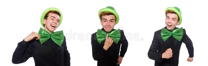 O homem engra?ado no conceito do feriado de St Patrick fotografia de stock royalty free