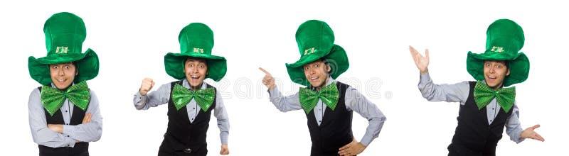 O homem engra?ado no conceito do feriado de St Patrick foto de stock