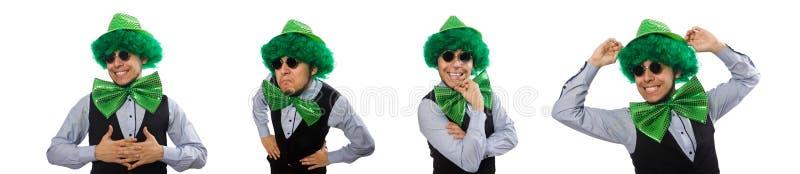 O homem engra?ado no conceito do feriado de St Patrick fotos de stock
