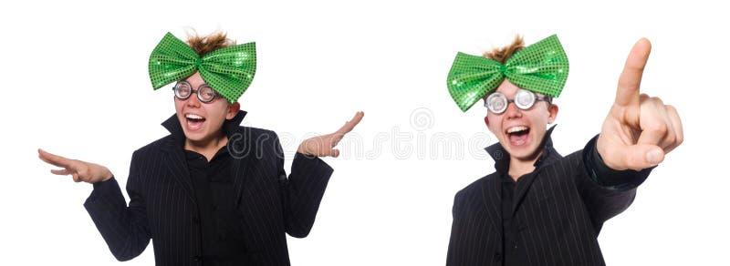 O homem engra?ado no conceito do feriado de St Patrick foto de stock royalty free