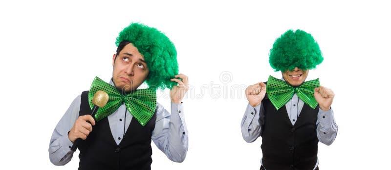 O homem engra?ado no conceito do feriado de St Patrick imagens de stock