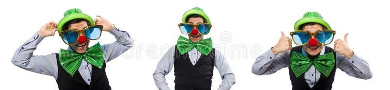 O homem engra?ado no conceito do feriado de St Patrick fotos de stock royalty free