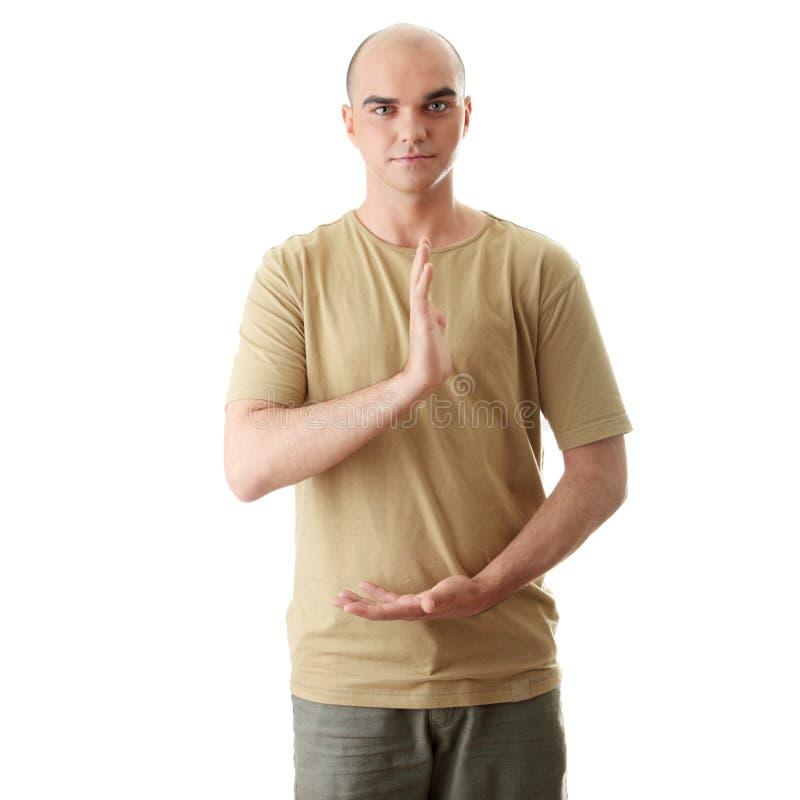 O homem está fazendo a ioga foto de stock royalty free