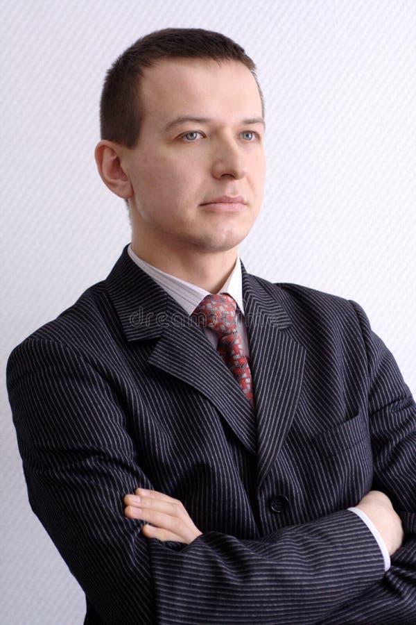 O homem está pensando imagens de stock