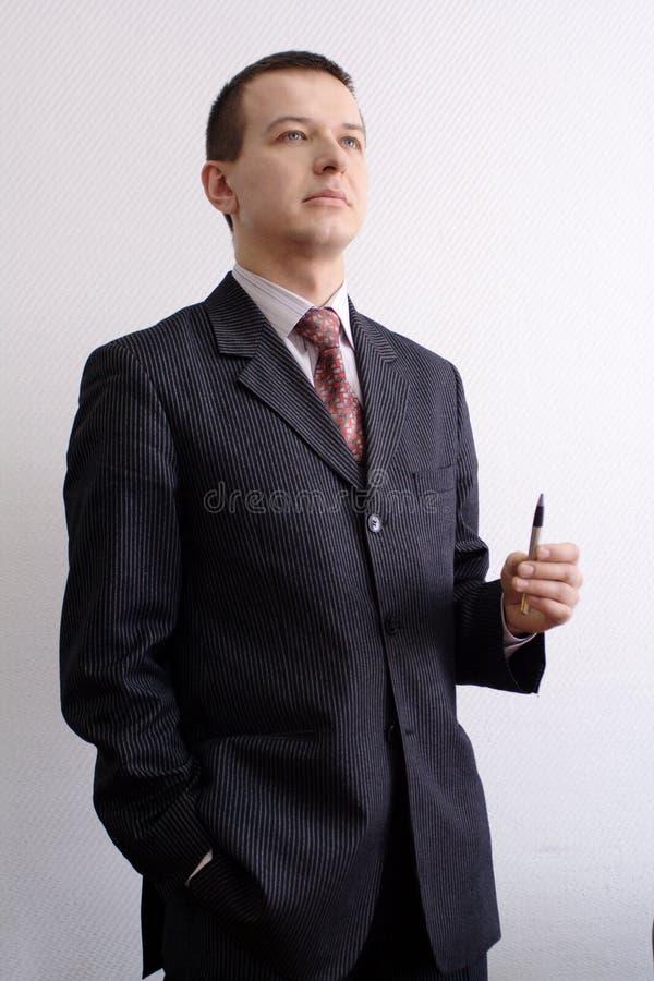 O homem está pensando foto de stock royalty free