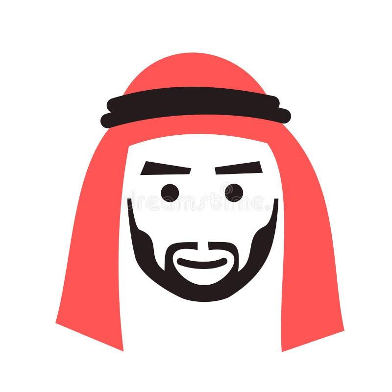 O homem está vestindo o lenço e o lenço ilustração royalty free
