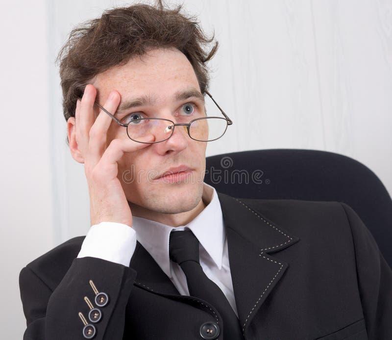 O homem - homem de negócios e problemas foto de stock royalty free