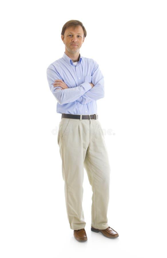 O homem isolado em um branco fotografia de stock