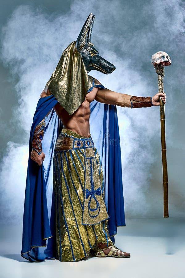 O homem na imagem do faraó egípcio antigo fotografia de stock royalty free