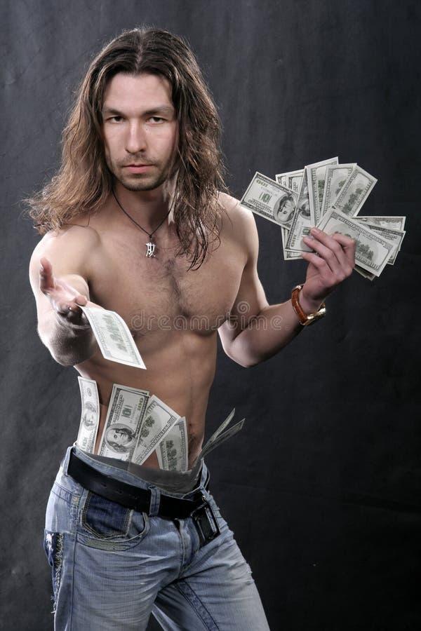 O homem novo bonito com s imagens de stock royalty free