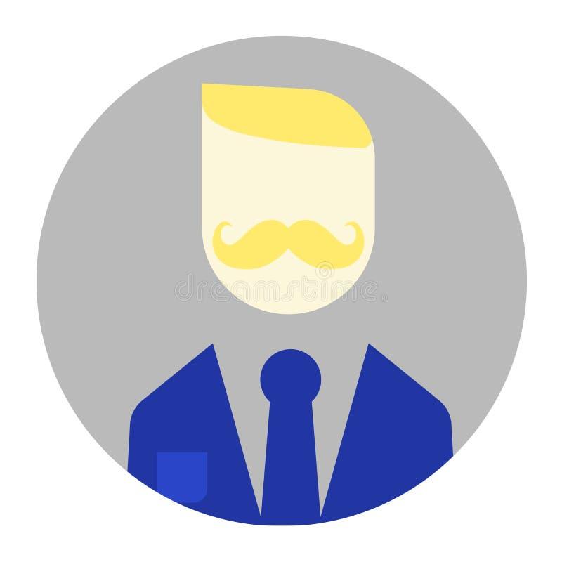 O homem novo moderno com bigodes ilustração royalty free