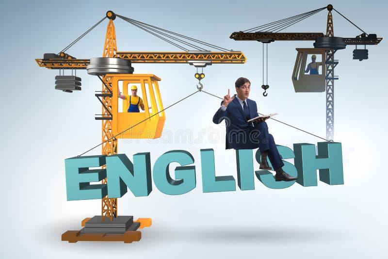 O homem novo na formação linguística inglesa imagens de stock royalty free