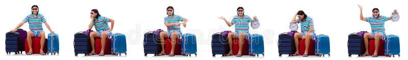 O homem que prepara-se para estas férias de verão fotos de stock