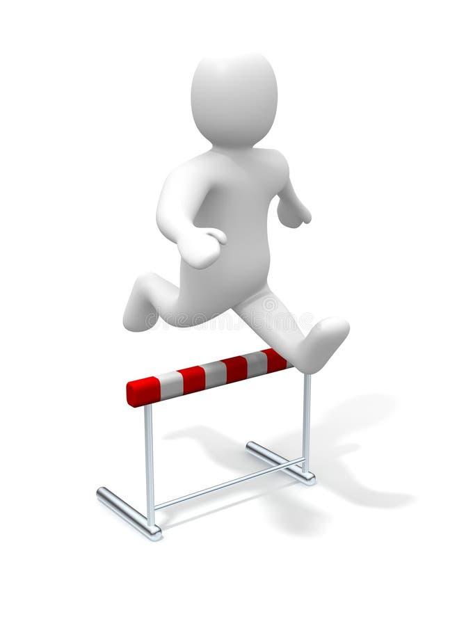 O homem que salta sobre o obstáculo ilustração do vetor