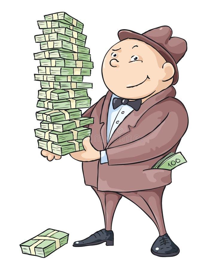 O homem rico ilustração royalty free