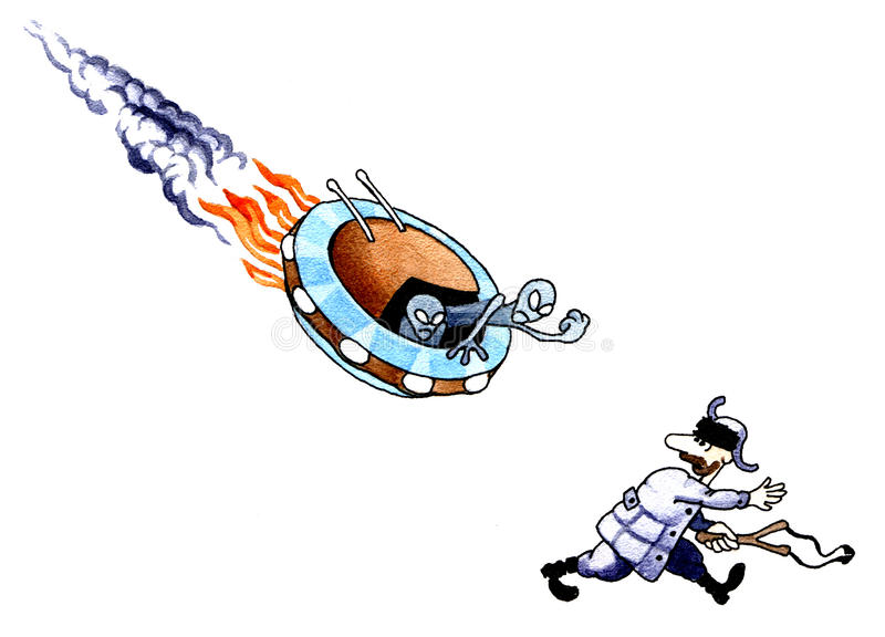 O hooligan idoso ilustração do vetor