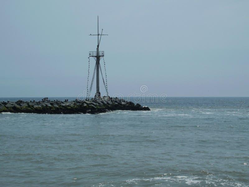 O horizonte no Oceano Pacífico foto de stock royalty free
