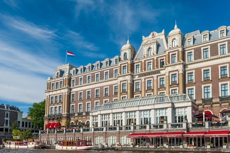 O hotel de Amstel em Amsterd?o central imagens de stock