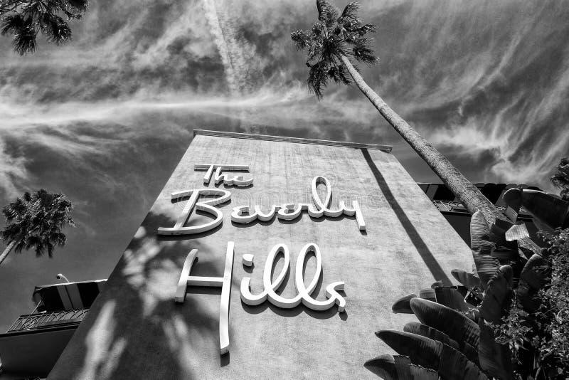 O hotel de Beverly Hills fotos de stock royalty free