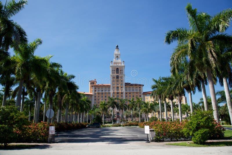 O hotel de Biltmore em Coral Gables, Miami, Florida imagens de stock