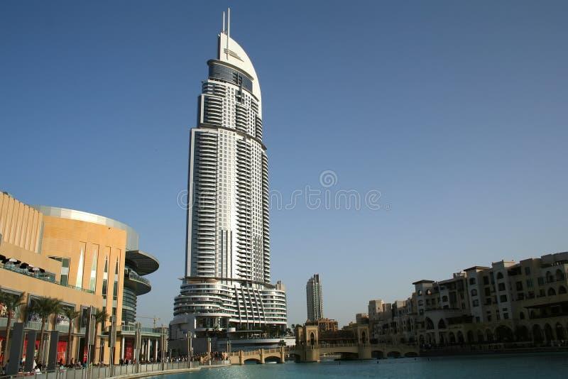 O hotel do endereço, Dubai imagens de stock