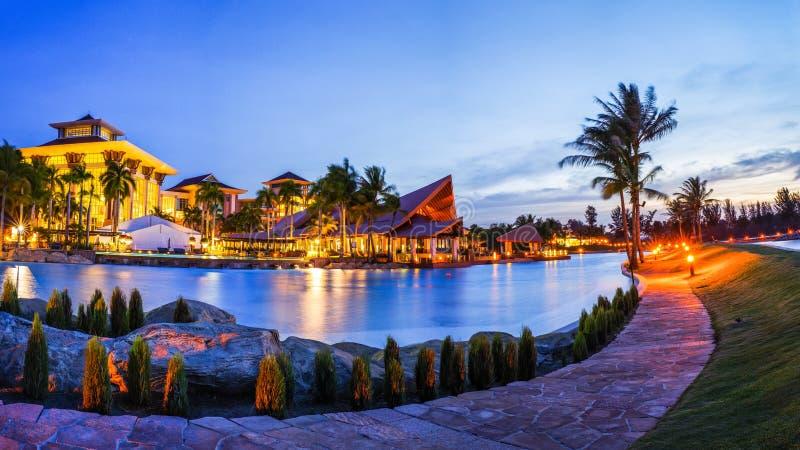 O hotel do império & o clube, Brunei Darussalam imagens de stock royalty free