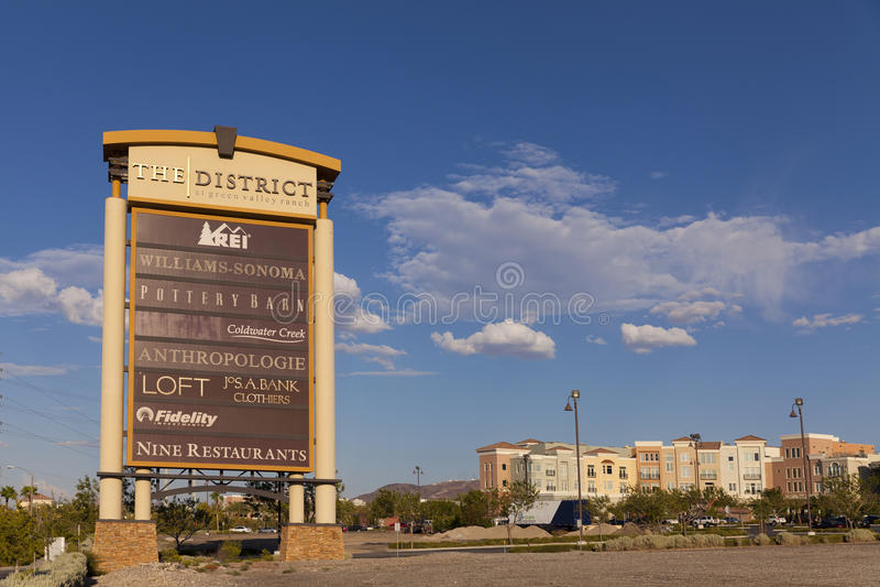 O hotel do rancho do vale verde assina dentro Las Vegas, nanovolt o 20 de agosto, 201 imagens de stock