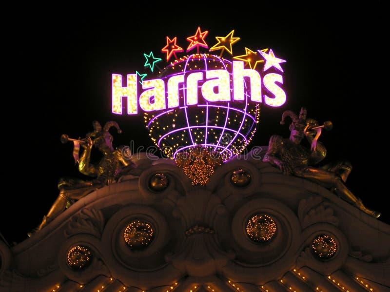 O hotel e o casino do Harrah em Las Vegas Nevada imagens de stock