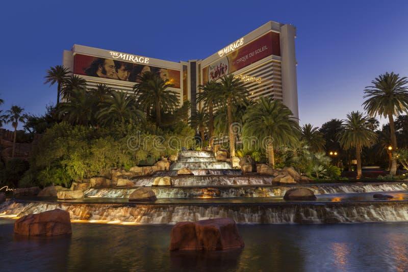 O hotel em Las Vegas, nanovolt da miragem o 29 de maio de 2013 fotos de stock