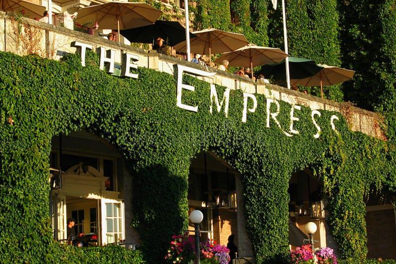 O hotel em Victoria, Columbia Britânica da imperatriz foto de stock