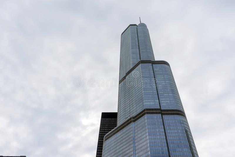 O hotel internacional do trunfo em Chicago imagens de stock royalty free
