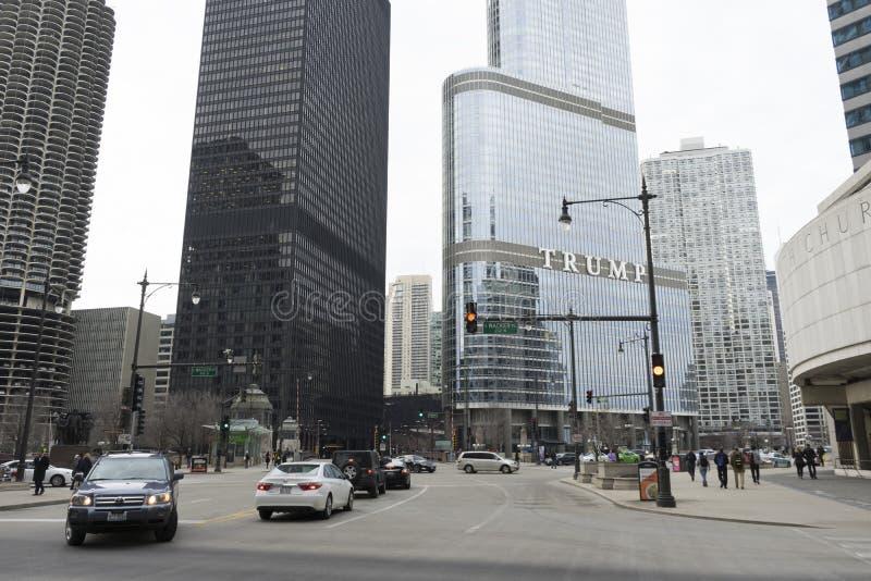 O hotel internacional do trunfo em Chicago imagem de stock