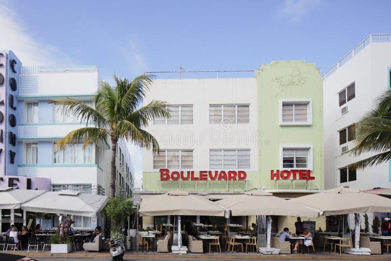 O hotel Miami Beach do bulevar imagens de stock royalty free