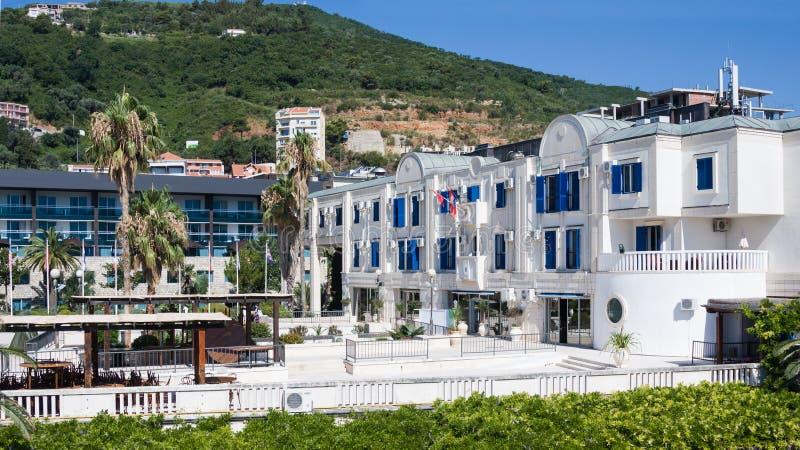 O hotel Mogren é situado na vizinhança imediata de paredes de limitação velhas do ` s da cidade e é um do fotografia de stock royalty free