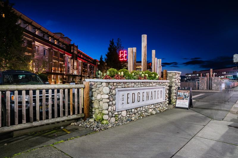 O hotel Seattle Washington de Edgewater fotografia de stock