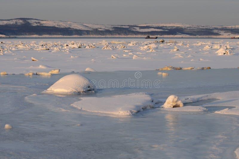 O hummock do gelo foto de stock