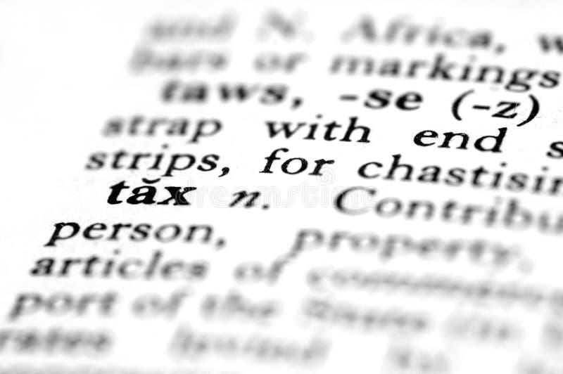 O imposto é a palavra imagem de stock royalty free