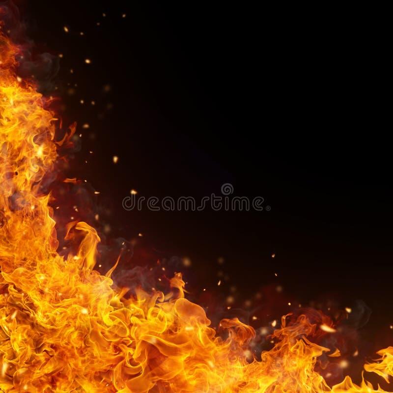 O incêndio abstrato inflama o fundo fotos de stock royalty free