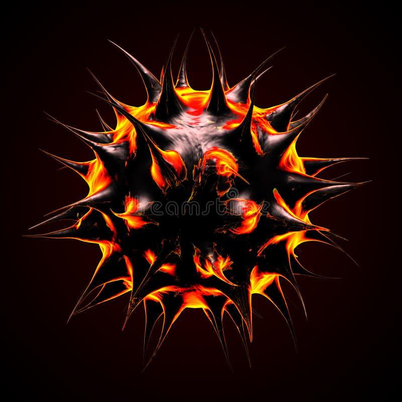 O incêndio gosta do micróbio ilustração do vetor