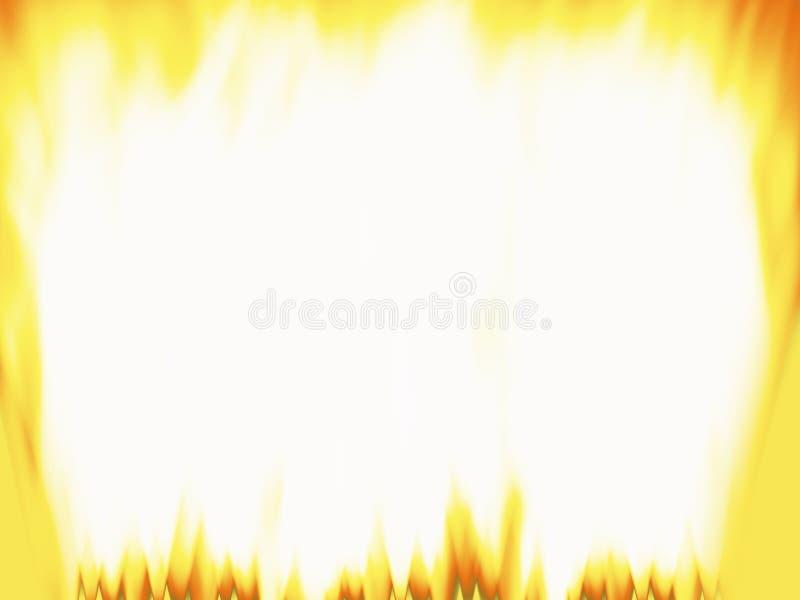 O incêndio inflama o frame ilustração royalty free