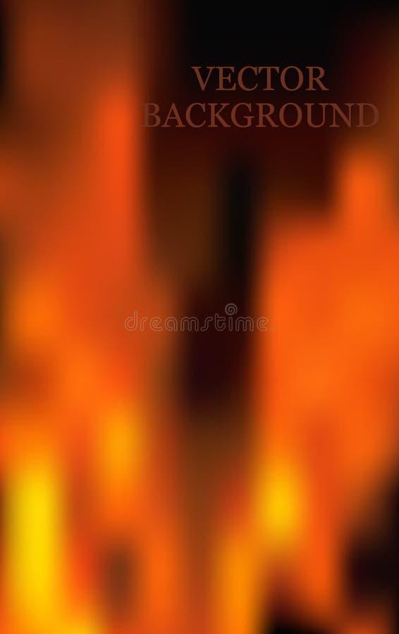 O incêndio inflama o fundo ilustração royalty free