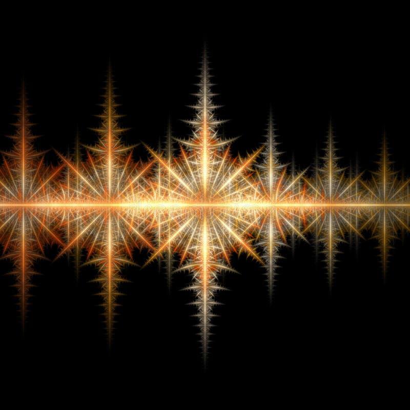 O incêndio stars 3D ilustração do vetor