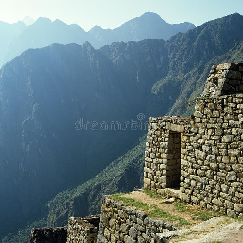 O Inca arruina Machu Picchu imagens de stock royalty free