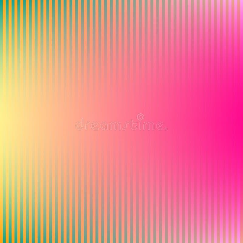 O inclinação colorido alinha o fundo em cores brilhantes do arco-íris Imagem borrada sumário ilustração do vetor