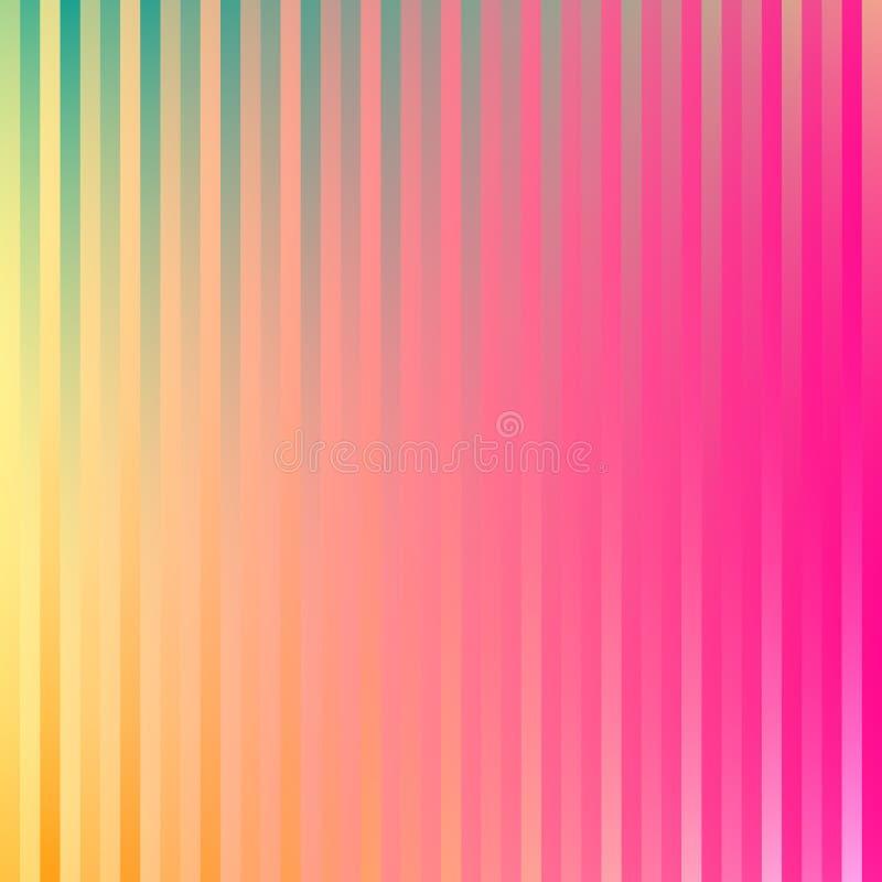 O inclinação colorido alinha o fundo em cores brilhantes do arco-íris Imagem borrada sumário ilustração stock